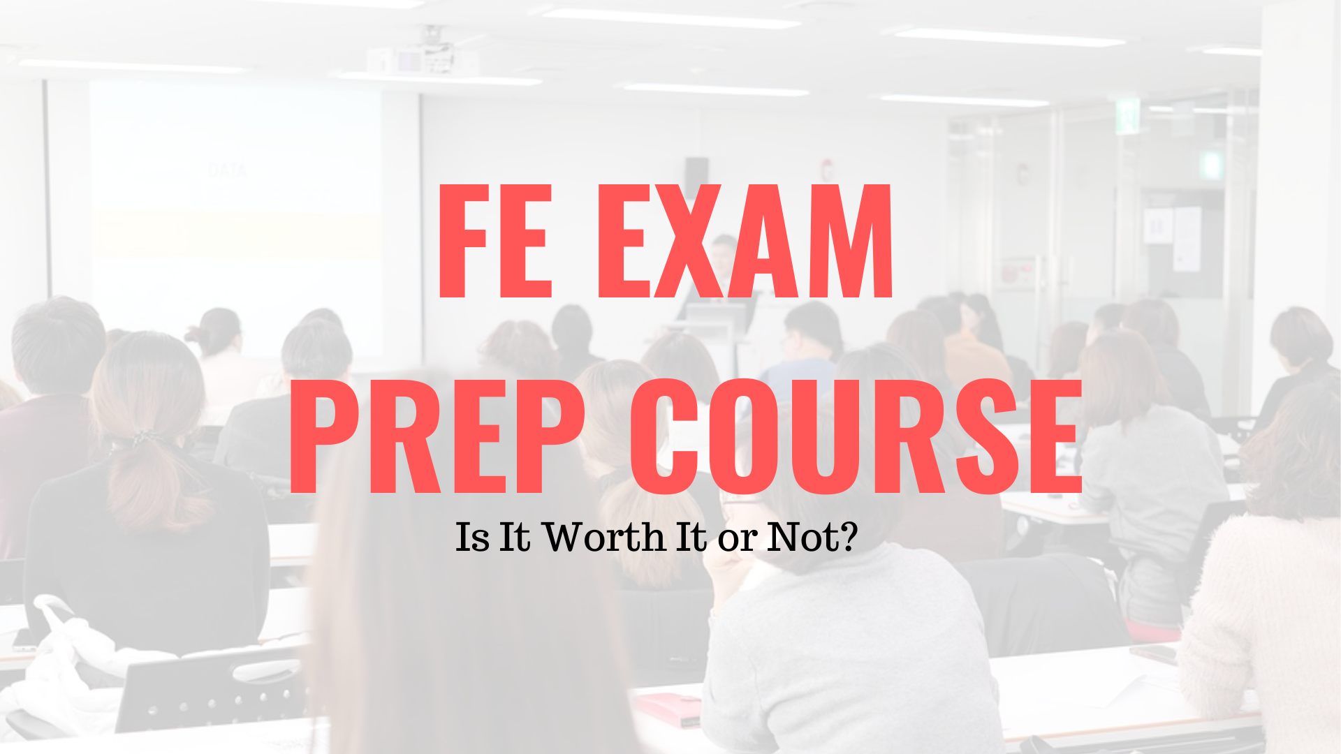 FE Exam Prep Course