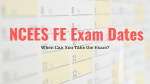 NCEES FE Exam Dates